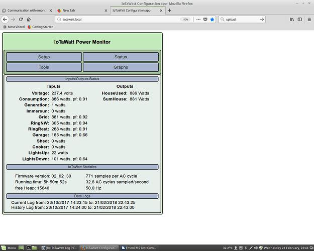 IoTaWatt Status Display